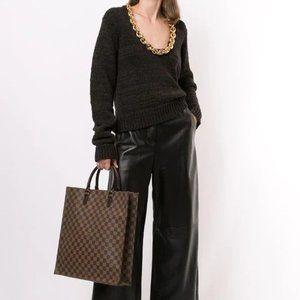 Authentic Louis Vuitton Damier Ebene Sac Plat Bag